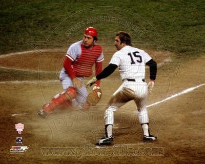 Cincinnati Reds, New York Yankees - Johnny Bench, Thurman Munson Photo