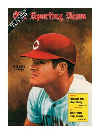 Cincinnati Reds Slugger Pete Rose - July 18, 1970