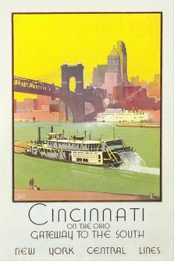 Cincinnati Travel Poster