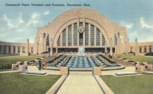 Cincinnati Union Terminal and Fountain, Cincinnati, Ohio