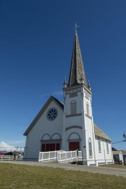 Alaska, Nome. Downtown Nome, Anvil City Square and Old St. Joseph's Hall by Cindy Miller Hopkins