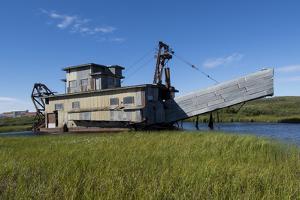 Alaska, Seward Peninsula, Nome. Swanberg Dredge, Gold Dredge by Cindy Miller Hopkins