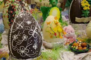 Australia. Easter Display of Decorated Chocolate Eggs and Candy by Cindy Miller Hopkins