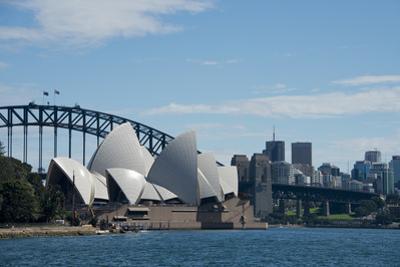 Australia, Sydney. Landmark Sydney Opera House and Harbour Bridge by Cindy Miller Hopkins