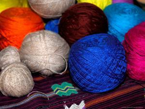 Balls of Yarn, Traditional Textiles, Textile Museum, Casa del Tejido, Antigua, Guatemala by Cindy Miller Hopkins