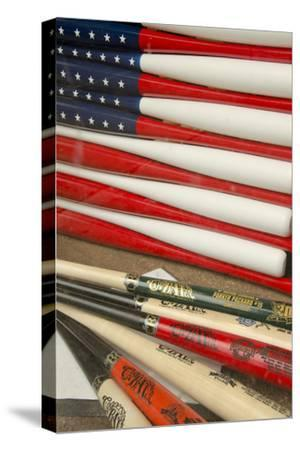 Baseball Bats Made into a Us Flag, Cooperstown, New York, USA by Cindy Miller Hopkins