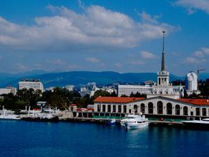Black Sea Port Located at Base of the Caucasus Mountain, Port of Sochi, Sochi, Russia by Cindy Miller Hopkins