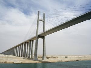 Bridge of Peace, Suez Canal, Egypt by Cindy Miller Hopkins