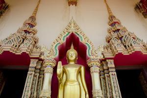 Buddhist Temple and Golden Buddha Statue, Wat Plai Laem, Ko Samui, Thailand by Cindy Miller Hopkins