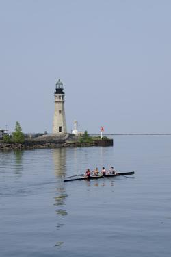 Buffalo Lighthouse, 1833, Us Coast Guard Base, Lake Erie, Buffalo, New York, USA by Cindy Miller Hopkins