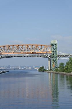 Burlington Canal at Hamilton, Lift Bridge on Lake Ontario, Toronto, Ontario, Canada by Cindy Miller Hopkins