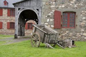 Canada, Nova Scotia, Louisbourg. Fortress of Louisbourg. Wooden Wagon by Cindy Miller Hopkins
