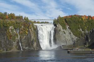 Canada, Quebec, Quebec City. Montmorency Falls in Autumn. by Cindy Miller Hopkins