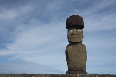 Chile, Easter Island, Hanga Roa. Ahu Tahai, Standing Moai Statue by Cindy Miller Hopkins