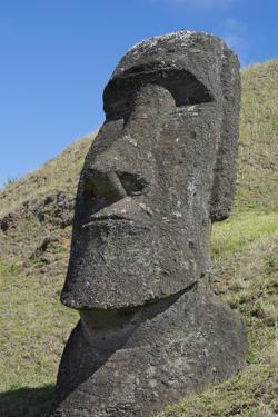 Chile, Easter Island. Rapa Nui NP, Historic Site of Rano Raraku. Moi by Cindy Miller Hopkins