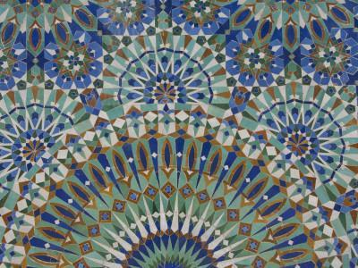 Close-Up of Mosaics in Hassan Ii Mosque, Casablanca, Morocco