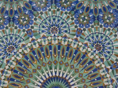 Close-Up of Mosaics in Hassan Ii Mosque, Casablanca, Morocco by Cindy Miller Hopkins