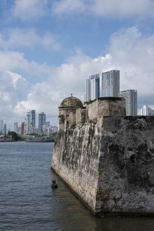 Colombia, Cartagena. Historic walled city center, city walls that surround the old town. by Cindy Miller Hopkins
