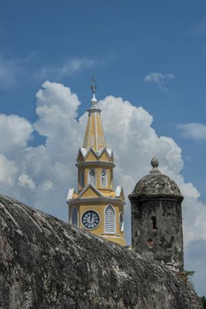 Colombia, Cartagena. 'Old City' the historic city center, UNESCO. Clock Tower, aka Torre del Reloj  by Cindy Miller Hopkins