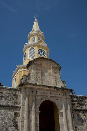 Colombia, Cartagena. 'Old City' the historic walled city center, UNESCO. Clock Tower Gate, aka Torr by Cindy Miller Hopkins