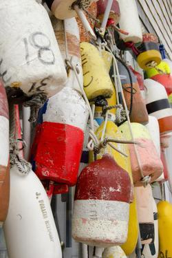Colorful Fishing Floats, Block Island, Rhode Island, USA by Cindy Miller Hopkins