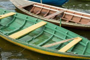 Colorful Local Wooden Fishing Boats, Alter Do Chao, Amazon, Brazil by Cindy Miller Hopkins