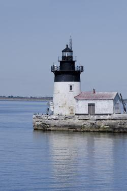 Detroit River Lighthouse, Wyandotte, Detroit River, Lake Erie, Michigan, USA by Cindy Miller Hopkins