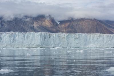 Eastern Greenland, Scoresbysund, aka Scoresby Sund. Wilson glacier, face of the glacier. by Cindy Miller Hopkins