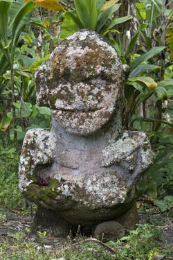 French Polynesia, Austral Islands, Raivavae. Moana Hei-Ata, Stone Tiki by Cindy Miller Hopkins