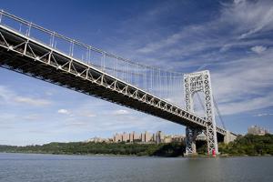 George Washington Bridge, Hudson River, New York, New York, USA by Cindy Miller Hopkins