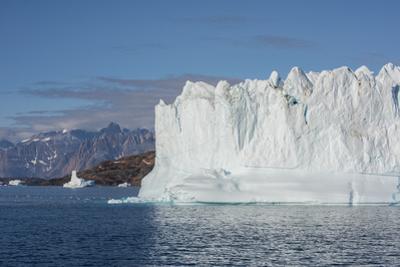Greenland, Scoresbysund, aka Scoresby Sund, Nordvestfjord. Huge icebergs floating in calm fjord. by Cindy Miller Hopkins
