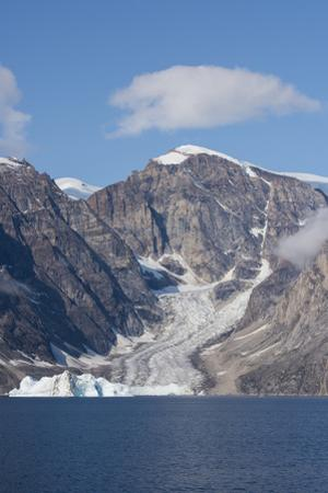 Greenland, Scoresbysund, aka Scoresby Sund, Nordvestfjord. Iceberg filled bay in front of rugged Fj by Cindy Miller Hopkins