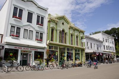 Historic Downtown Streets of Mackinac, Michigan, USA by Cindy Miller Hopkins