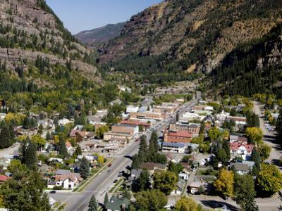 Historic Mining Town, Ouray, San Juan Skyway, US Highway 550, Colorado, USA by Cindy Miller Hopkins