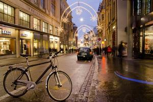 Holiday Lights on Freie Strasse, Basel, Switzerland by Cindy Miller Hopkins