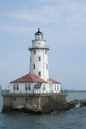 Illinois, Chicago. Lake Michigan, Chicago Harbor Light