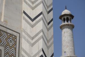 India, Agra, Taj Mahal. Memorial to Queen Mumtaz Mahal. Geometric Wall by Cindy Miller Hopkins