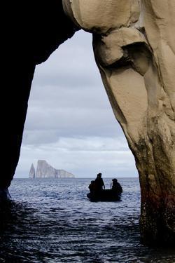 Kicker Rock Seen Through a Cave from San Cristobal, Galapagos, Ecuador by Cindy Miller Hopkins
