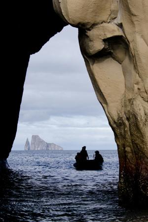 Kicker Rock Seen Through a Cave from San Cristobal, Galapagos, Ecuador by Cindy Miller Hopkins