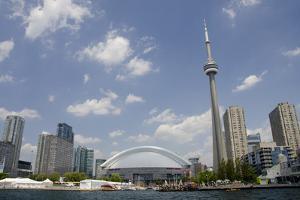 Lake Ontario City Skyline, Cn Tower, Rogers Centr, Toronto, Ontario, Canada by Cindy Miller Hopkins