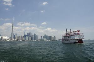 Lake Ontario Skyline, Sightseeing Paddlewheel Boat, Toronto, Ontario, Canada by Cindy Miller Hopkins