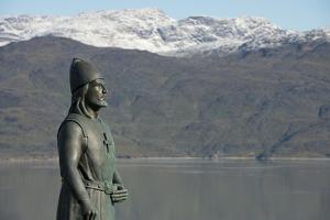 Leif Erikson statue at Brattahlid, Qassiarsuk, Tunulliarfik, Greenland by Cindy Miller Hopkins