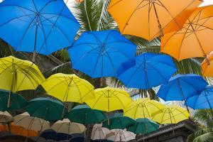 Mauritius, Port Louis, Caudan Waterfront Area with Umbrella Covering by Cindy Miller Hopkins