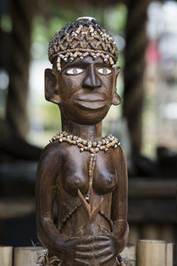 Melanesia, Solomon Islands, Guadalcanal Island. Wood Carved Figurine by Cindy Miller Hopkins