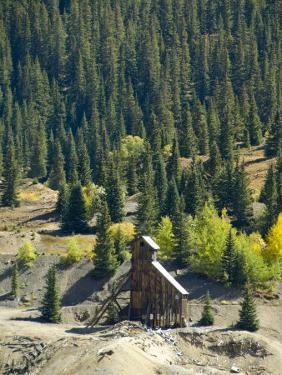 Old Mine, Red Mountain Pass, San Juan Skyway, Us Highway 550, Colorado, USA by Cindy Miller Hopkins