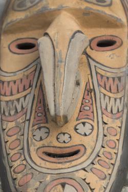 Papua New Guinea, Murik Lakes, Karau Village. Traditional Carved Masks by Cindy Miller Hopkins
