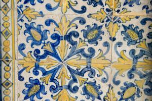 Portuguese Tiles, Jesuit Cathedral Basilica, Salvador, Bahia, Brazil, by Cindy Miller Hopkins