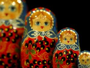 Russian Handicrafts, Matrushka Nesting Dolls by Cindy Miller Hopkins