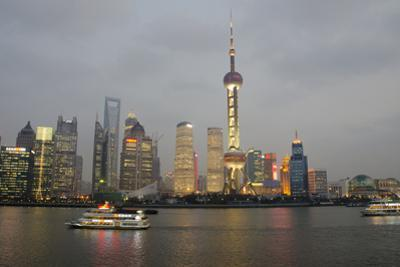 Sightseeing Dinner Boat on River, Shanghai, China by Cindy Miller Hopkins