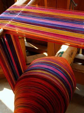 Spool of Colorful Textile Yarn, Lake Atitlan, Western Highlands, Guatemala by Cindy Miller Hopkins